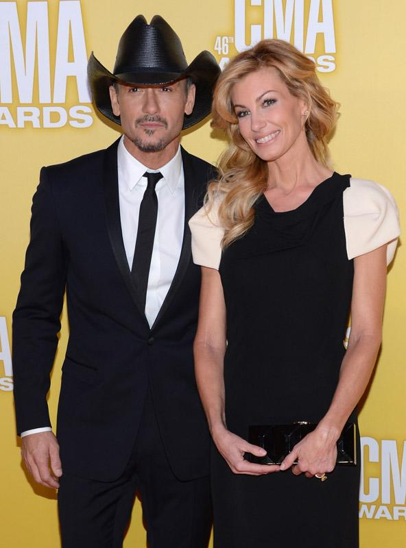 Tim McGraw and Faith Hill 46th Annual CMA Awards - Arrivals