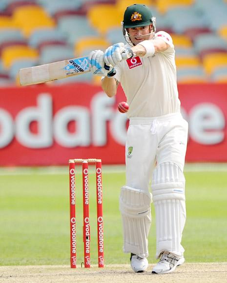 Michael Clarke of Australia bats during day four of the First Test match between Australia and South Africa at The Gabba on November 12, 2012 in Brisbane, Australia.  (Photo by Matt Roberts/Getty Images)