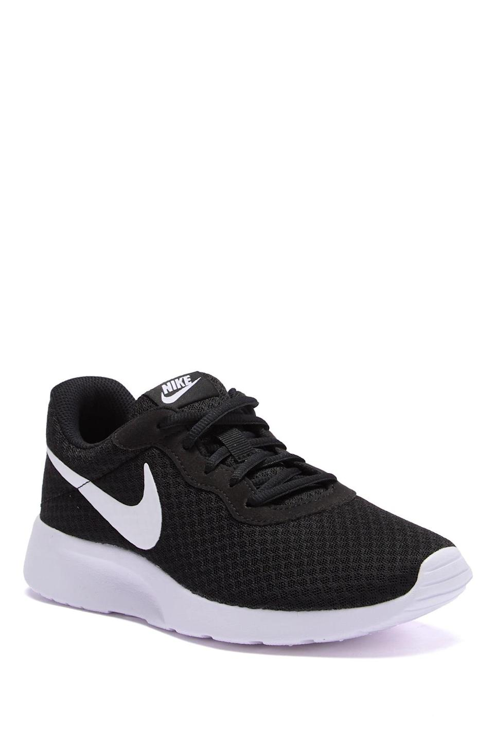 "<h2>Nike</h2><br>Nike Tanjun and Revolution 5 sneakers are up to 23% off. Take a peek at the activewear section too for discounts on joggers, sports bras, and more accessories.<br><br><em>Shop</em> <strong><em><a href=""https://www.nordstromrack.com/brands/Nike"" rel=""nofollow noopener"" target=""_blank"" data-ylk=""slk:Nike"" class=""link rapid-noclick-resp"">Nike</a></em></strong><br><br><strong>Nike</strong> Tanjun Sneaker, $, available at <a href=""https://go.skimresources.com/?id=30283X879131&url=https%3A%2F%2Fwww.nordstromrack.com%2Fs%2Fnike-tanjun-sneaker%2Fn2052319"" rel=""nofollow noopener"" target=""_blank"" data-ylk=""slk:Nordstrom Rack"" class=""link rapid-noclick-resp"">Nordstrom Rack</a>"