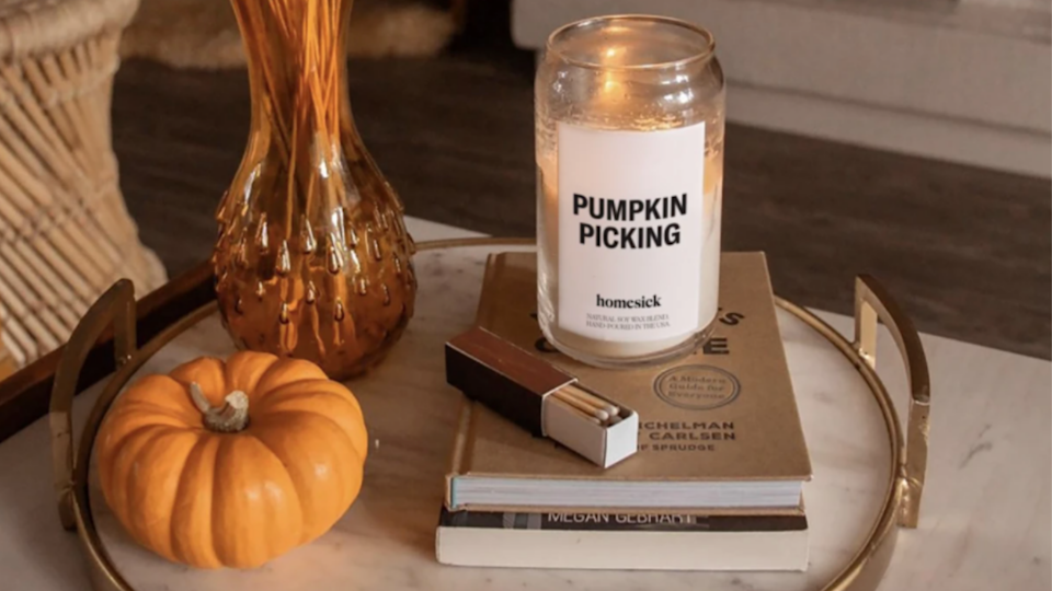 Homesick's Pumpkin Picking will transport you right into the pumpkin patch.