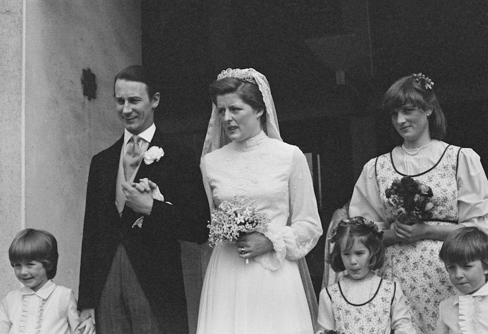 """<p>Right around the time she attended a Swiss finishing school, Diana served as a bridesmaid at her sister Lady Jane Spencer's London wedding. At this point she had already met <a href=""""https://www.goodhousekeeping.com/life/news/a43406/princess-diana-shorter-prince-charles-pictures/"""" rel=""""nofollow noopener"""" target=""""_blank"""" data-ylk=""""slk:Prince Charles"""" class=""""link rapid-noclick-resp"""">Prince Charles</a> — when he was dating her other sister, Lady Sarah. </p>"""