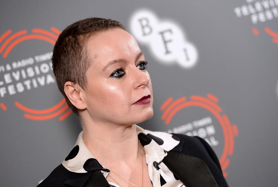 "Samantha Morton attends the ""I Am Kirsty"" photocall during the BFI & Radio Times Television Festival 2019 at BFI Southbank on April 14, 2019 in London, England. (Photo by Jeff Spicer/Getty Images)"