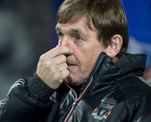 Kenny Dalglish gestures ahead of the English Premier League football match between Queens Park Rangers and Liverpool
