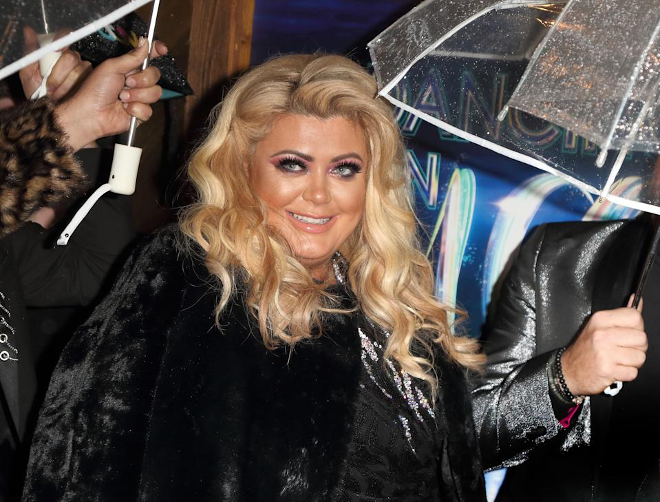 Gemma Collins at the Dancing On Ice red carpet launch at the Natural History Museum Ice Rink. (Photo by Keith Mayhew/SOPA Images/LightRocket via Getty Images)