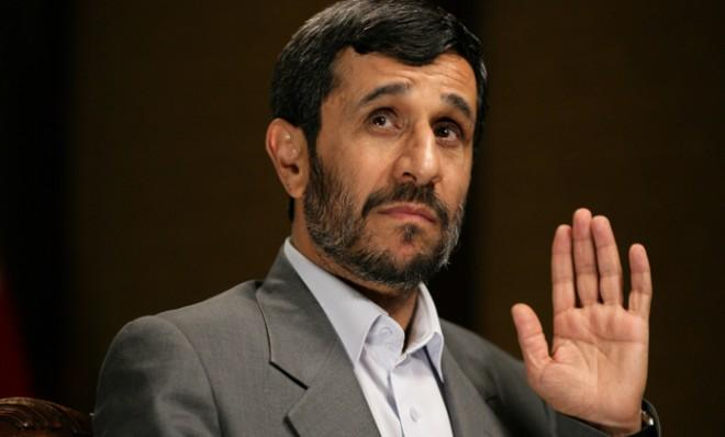 Mahmoud Ahmadinejad is interviewed by Christiane Amanpour on Sept. 25, 2007 during his travels to the U.S.