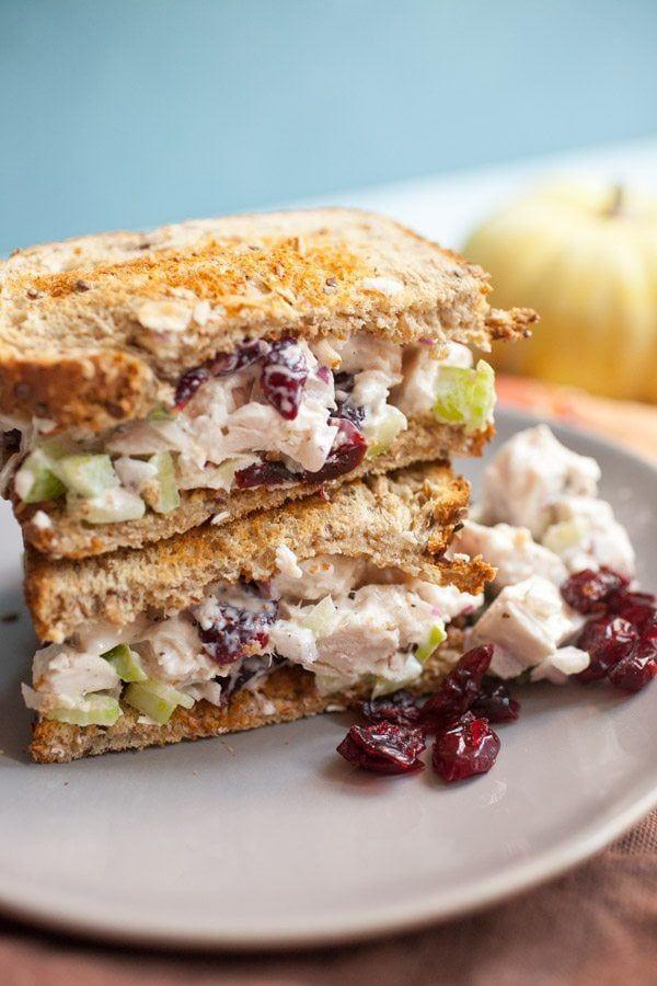 """<p>Think of this as an upgraded version of a classic sandwich. In fact, swapping chicken for turkey might become your new favorite go-to.</p><p><strong>Get the recipe at <a href=""""https://www.recipegirl.com/leftover-turkey-salad-sandwiches/"""" rel=""""nofollow noopener"""" target=""""_blank"""" data-ylk=""""slk:Recipe Girl"""" class=""""link rapid-noclick-resp"""">Recipe Girl</a>.</strong></p><p><strong><strong><a class=""""link rapid-noclick-resp"""" href=""""https://go.redirectingat.com?id=74968X1596630&url=https%3A%2F%2Fwww.walmart.com%2Fip%2FCorelle-Square-Simple-Lines-9-Lunch-Plate-Set-of-6%2F41275492&sref=https%3A%2F%2Fwww.countryliving.com%2Ffood-drinks%2Fg1064%2Fthanksgiving-leftovers%2F"""" rel=""""nofollow noopener"""" target=""""_blank"""" data-ylk=""""slk:SHOP PLATES"""">SHOP PLATES</a></strong><br></strong></p>"""