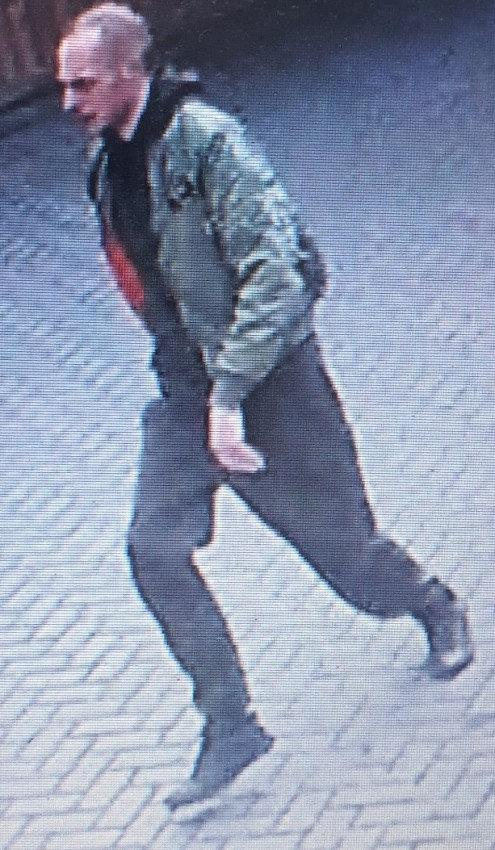 Police are trying to identify this man in connection with the incident (Picture: SWNS)