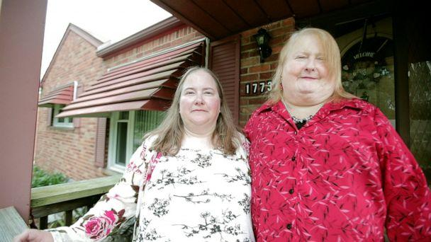 PHOTO: Aimee Stephens, right, with wife Donna Stephens at their home in Michigan. (Charles William Kelly)