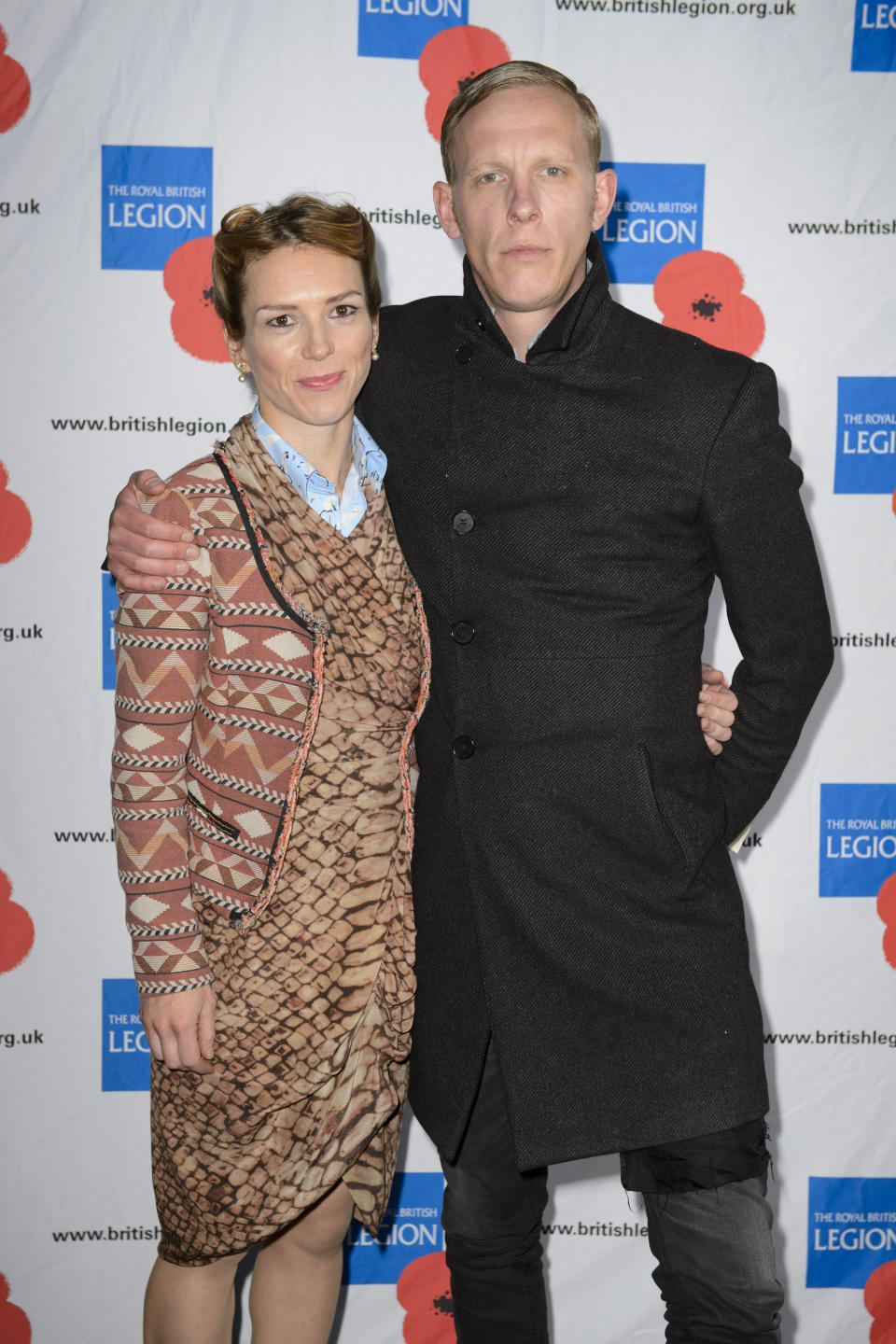 Honeysuckle Weeks and Laurence Fox pictured backstage during the VE Day 70: A Party to Remember concert on Horse Guards Parade, Whitehall, London.