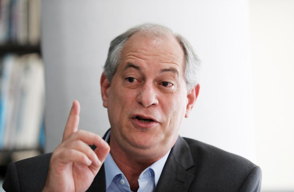 Presidential candidate Ciro Gomes of the Democratic Labour party (PDT) talks during a campaign rally at the Institute of Architects in Sao Paulo, Brazil, September 20, 2018. REUTERS/Nacho Doce