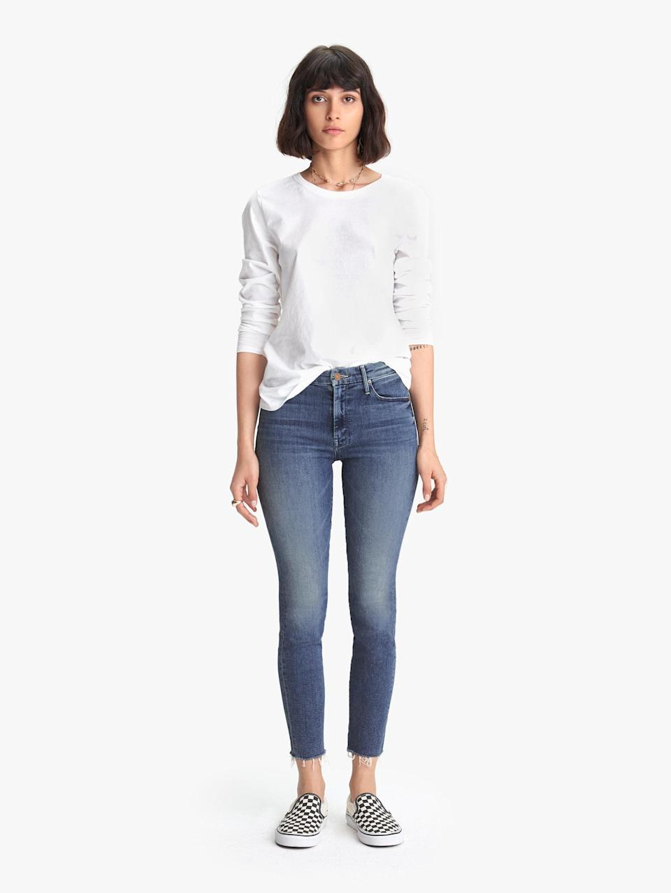 <p><span>Mother's The Looker Ankle Fray Groovin'</span> ($228) jeans come with a generous stretch for total comfort.</p>