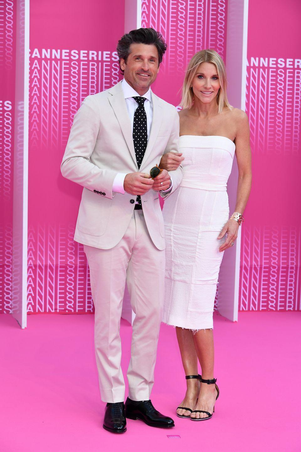 """<p> About five years later, Dempsey married Fink, a makeup artist, and the two have been together for about 20 years. When asked about their secrets to success, he told <a href=""""https://www.etonline.com/patrick-dempsey-gets-candid-about-what-hes-learned-after-19-years-of-marriage-exclusive-110816"""" rel=""""nofollow noopener"""" target=""""_blank"""" data-ylk=""""slk:Entertainment Tonight"""" class=""""link rapid-noclick-resp""""><em>Entertainment Tonight</em></a>, """"The older you get, the more you realize how little time you have, and [how] you want to make the most of it.""""</p>"""