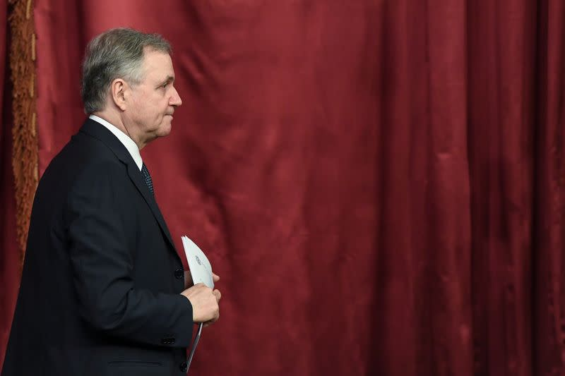 FILE PHOTO: Bank of Italy Governor Ignazio Visco presents Bank of Italy's annual report in Rome