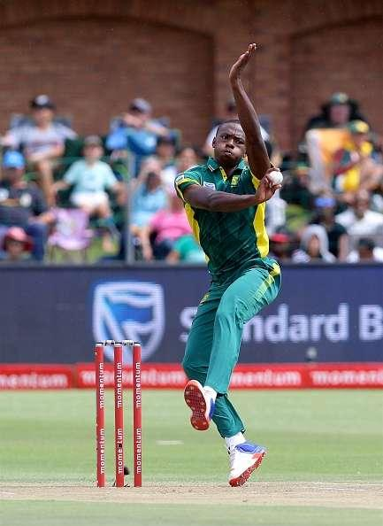 PORT ELIZABETH, SOUTH AFRICA - JANUARY 28: Kagiso Rabada of South Africa during the 1st One Day International match between South Africa and Sri Lanka at St Georges Park on January 28, 2017 in Port Elizabeth, South Africa. (Photo by Richard Huggard/Gallo Images/Getty Images)