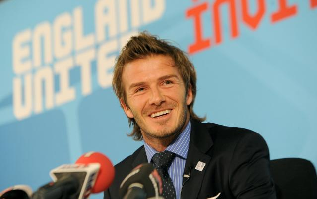 File photo dated 01/12/2010 of England 2018 Vice President David Beckham during a press conference at the Swissotel, Zurich, Switzerland.