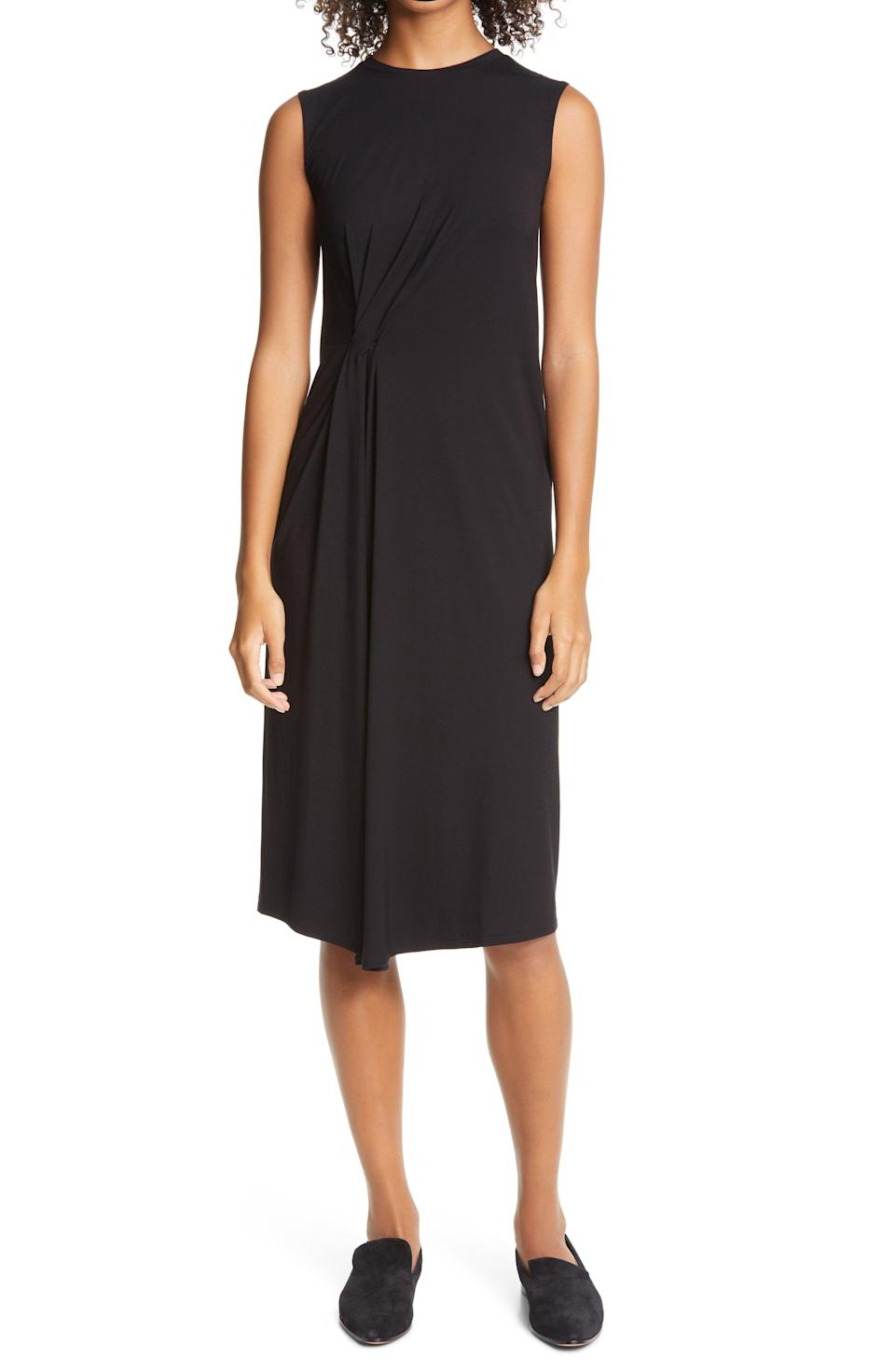 """<p><strong>VINCE</strong></p><p>nordstrom.com</p><p><strong>$99.90</strong></p><p><a href=""""https://go.redirectingat.com?id=74968X1596630&url=https%3A%2F%2Fwww.nordstrom.com%2Fs%2Fvince-gathered-sleeveless-dress%2F5598713&sref=https%3A%2F%2Fwww.townandcountrymag.com%2Fstyle%2Ffashion-trends%2Fg33595537%2Fnordstrom-anniversary-sale-2020-womens-clothing%2F"""" rel=""""nofollow noopener"""" target=""""_blank"""" data-ylk=""""slk:Shop Now"""" class=""""link rapid-noclick-resp"""">Shop Now</a></p><p><em>Originally: $195</em></p>"""