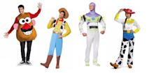 """<p>from $10.95 each</p><p><a class=""""link rapid-noclick-resp"""" href=""""https://www.amazon.com/toy-story-costumes/s?k=toy+story+costumes&tag=syn-yahoo-20&ascsubtag=%5Bartid%7C2089.g.1733%5Bsrc%7Cyahoo-us"""" rel=""""nofollow noopener"""" target=""""_blank"""" data-ylk=""""slk:SHOP AMAZON"""">SHOP AMAZON</a> <a class=""""link rapid-noclick-resp"""" href=""""https://go.redirectingat.com?id=74968X1596630&url=https%3A%2F%2Fwww.halloweencostumes.com%2Ftoy-story-costume.html%3Fq%3Dtoy%2Bstory&sref=https%3A%2F%2Fwww.bestproducts.com%2Flifestyle%2Fnews%2Fg1733%2Fgroup-halloween-costumes%2F"""" rel=""""nofollow noopener"""" target=""""_blank"""" data-ylk=""""slk:SHOP HALLOWEENCOSTUMES.COM""""><strong>SHOP HALLOWEENCOSTUMES.COM</strong></a><br></p>"""