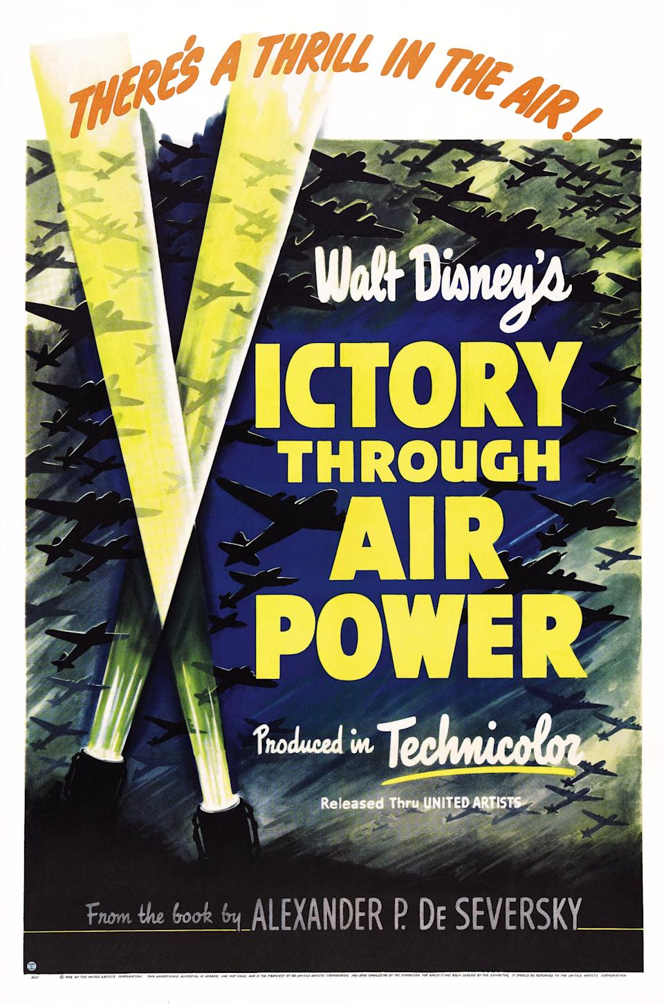 Victory Through Air Power, poster, US poster art, 1943. (Photo by LMPC via Getty Images)