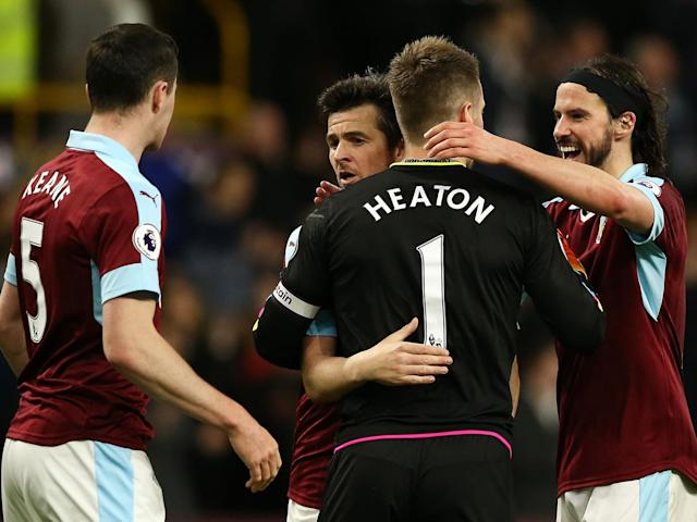 This was Burnley's first win since their victory over Leicester in January: Getty