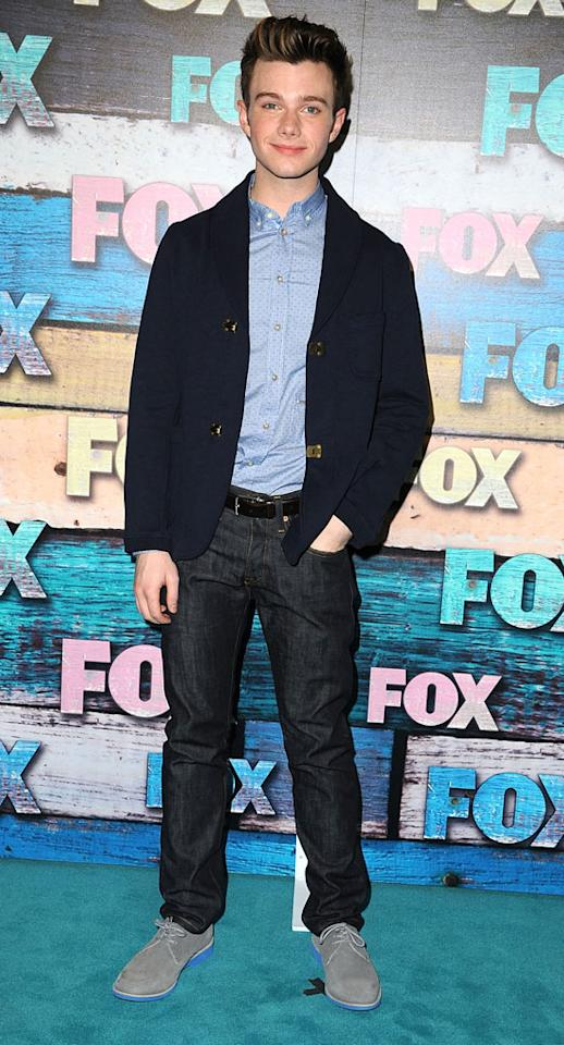 """Chris Colfer (""""Glee"""") arrives at the Fox Summer 2012 All-Star Party on July 23, 2012 at the Soho House in West Hollywood, California."""