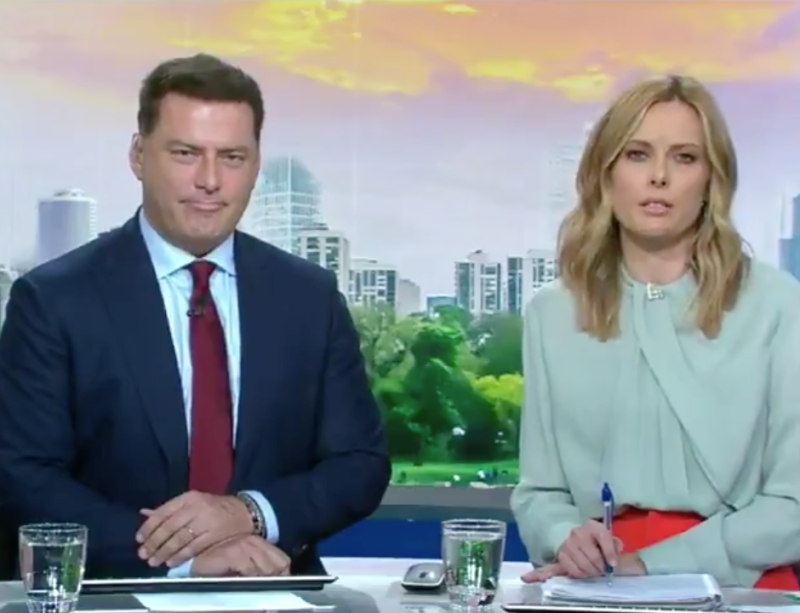 Picture of Today show hosts, Karl Stefanovic and Allison Langdon. The hosts did not seem impressed by Arthur Aidala's remarks regarding the sentencing of Harvey Weinstein.