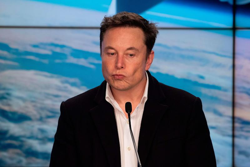SpaceX chief Elon Musk speaks during a press conference after the launch of SpaceX Crew Dragon Demo mission at the Kennedy Space Center in Florida on March 2, 2019. - NASA and SpaceX celebrated the successful launch March 2 of a new astronaut capsule on a week-long round trip to the International Space Station -- a key step towards resuming manned space flights from US soil after an eight-year break. (Photo by Jim WATSON / AFP) (Photo credit should read JIM WATSON/AFP/Getty Images)