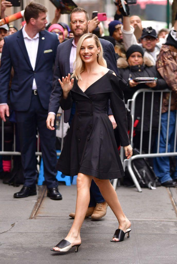 <p>For her second ensemble of the day the 29-year-old wore a black Proenza Schouler cut-out dress whilst out in New York. </p>