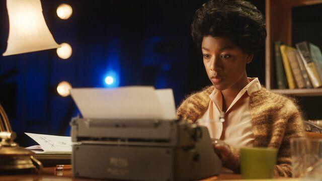 """""""Equal"""" also stars Samira Wiley as playwrightLorraine Hansberry. (Photo: HBO Max)"""