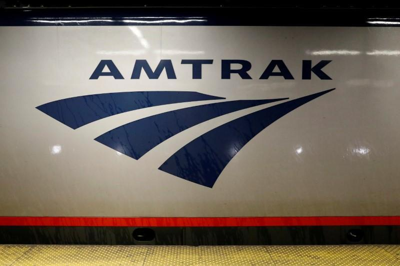 FILE PHOTO: An Amtrak train is parked at the platform inside New York's Penn Station, the nation's busiest train hub, which will be closing tracks for repairs causing massive disruptions to commuters in New York City