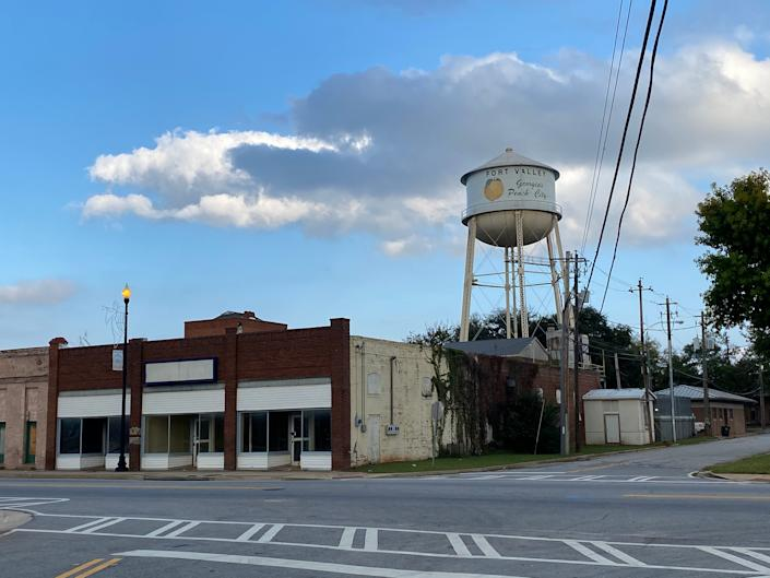 A water tower in Fort Valley, GeorgiaRichard Hall / The Independent