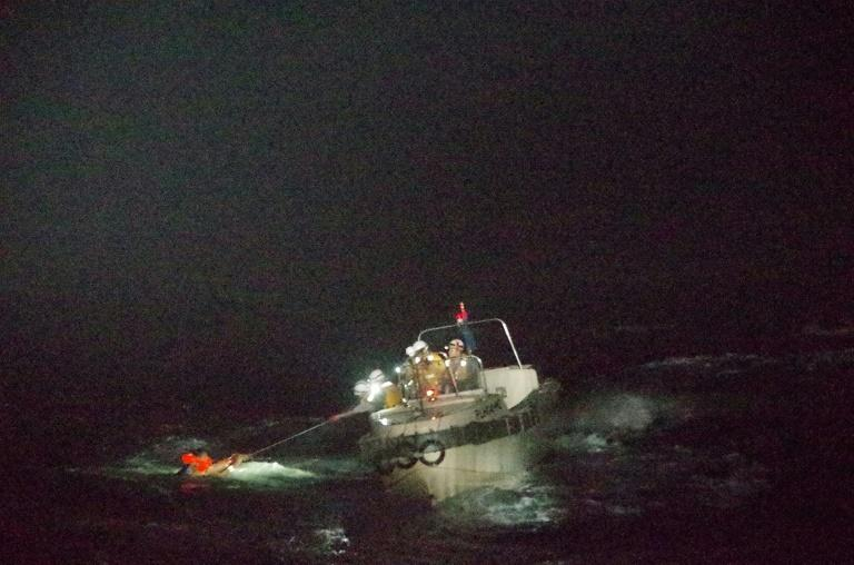 The ship was carrying 43 crew, but the survivor told Japan's coast guard he had not seen anyone else while waiting to be rescued