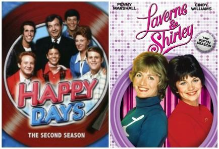 """<div class=""""caption-credit""""> Photo by: Amazon</div><div class=""""caption-title"""">Happy Days Spin-Off - Laverne & Shirley</div>Laverne and Shirley were first introduced on the uber-hit Happy Days as pals of the Fonz. And what happens when you are BFFs with the coolest kid in town? You get your own show! Happy Days ran for ten years, while Laverne and Shirley lasted for seven, moving from Milwaukee to Hollywood. Both shows were incredibly popular and successful."""