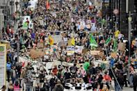 Organisers said the rallies had drawn 620,000 people to more than 470 cities in towns across the country (AFP/John MACDOUGALL)