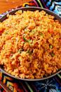 """<p>Tomato sauce, red bell pepper, and the perfect combo of spices elevate ordinary white rice to a restaurant-worthy side.</p><p>Get the recipe from <a href=""""https://www.delish.com/cooking/recipe-ideas/a25416825/spanish-rice-recipe/"""" rel=""""nofollow noopener"""" target=""""_blank"""" data-ylk=""""slk:Delish"""" class=""""link rapid-noclick-resp"""">Delish</a>. </p>"""