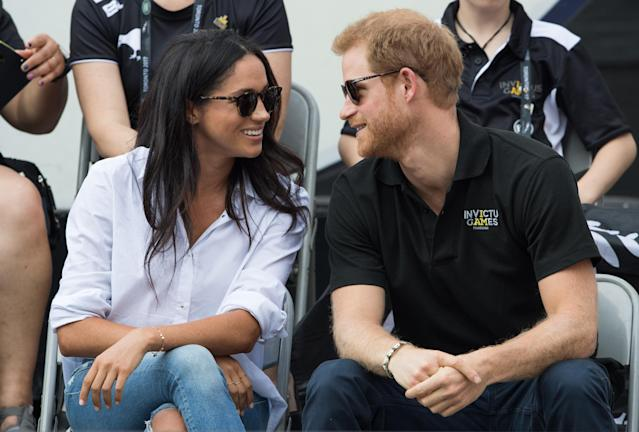 Meghan Markle and Prince Harry at the Invictus Games Toronto 2017. (Photo: Samir Hussein/WireImage)