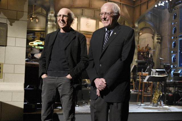Larry David and Bernie Sanders. (Photo: Getty Images)
