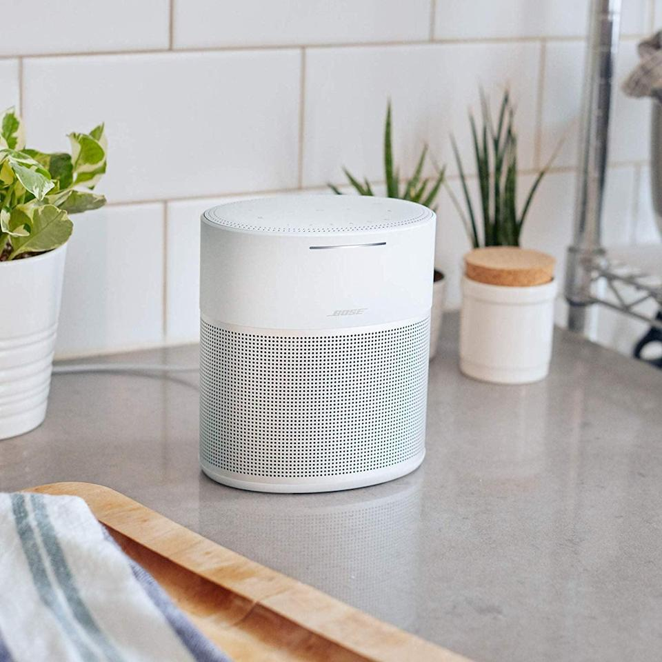 <p>Listen to music and more at a 360-degree angle with this powerhouse <span>Bose Home Speaker 300</span> ($199). It easily connects to Alexa and Apple AirPlay and is Bluetooth enabled. </p>