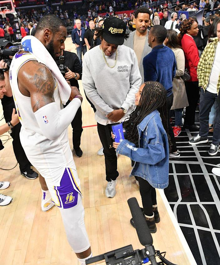 <p>Forget watching the post-game interview. When you're Blue Ivy Carter, and your parents are Jay-Z and Beyoncé, you get a chance to ask the team's star player questions all on your own after the final buzzer goes off. </p>