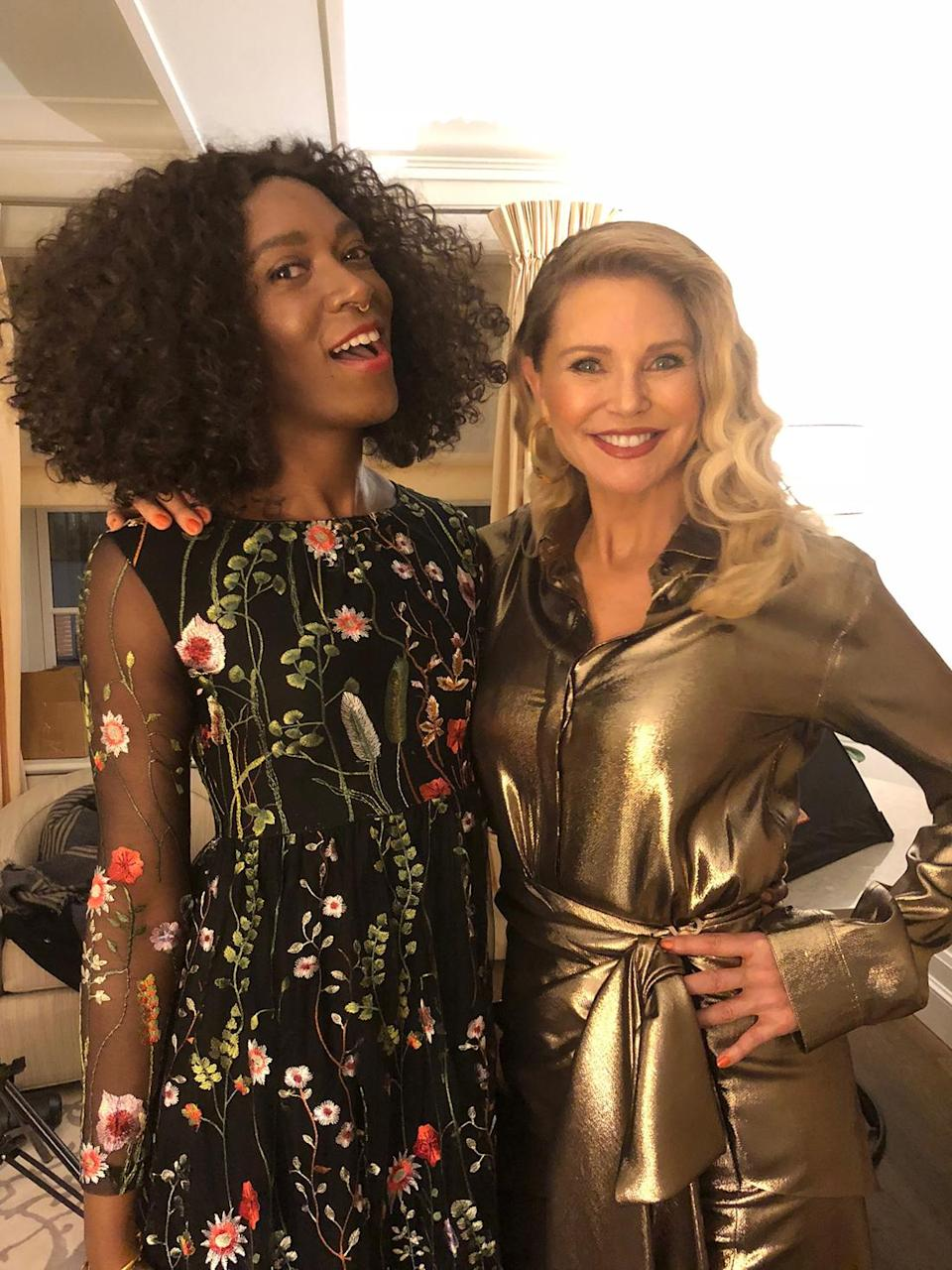 Proof that Stunner lipstick from the Christie Brinkley Authentic Beauty line is a flattering red for a diverse range of skin tones. (Photo: Dana Oliver for Yahoo Lifestyle)