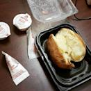 """<p><strong>What is it:</strong> The satisfying simplicity of good, honest, hot, fluffy baked potato perfection. Ingredients: Potato.</p><p><strong>Why it's meh tier: </strong>Oh god. This makes us feel so sad.</p><p><a href=""""https://www.instagram.com/p/B2vJhLaFtsm/"""" rel=""""nofollow noopener"""" target=""""_blank"""" data-ylk=""""slk:See the original post on Instagram"""" class=""""link rapid-noclick-resp"""">See the original post on Instagram</a></p>"""