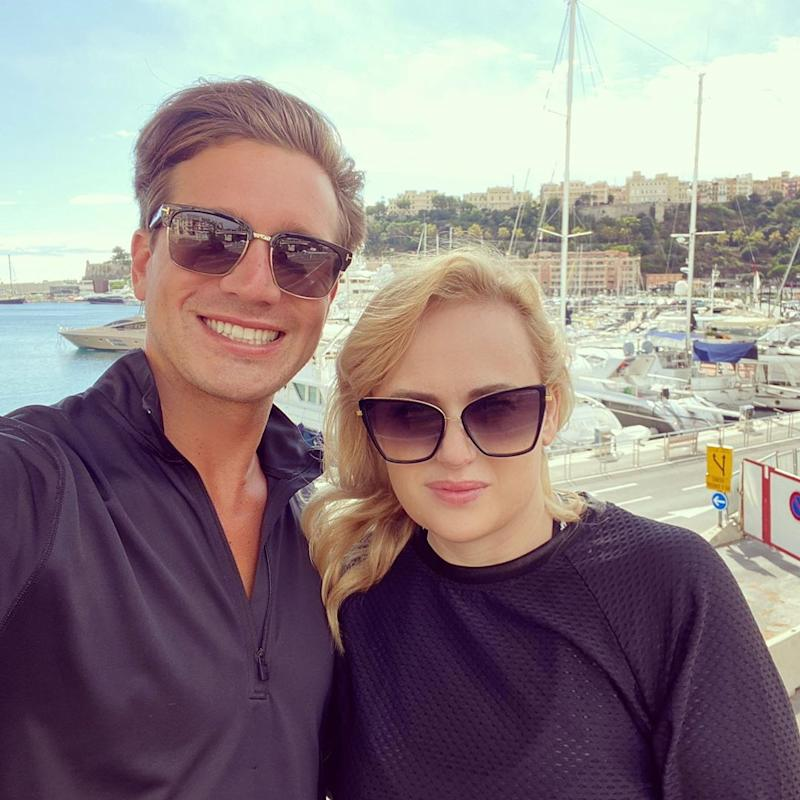 Rebel Wilson's risqué comment about her new beau, Jacob Busch, 29, has raised eyebrows online. Photo: Instagram/rebelwilson.