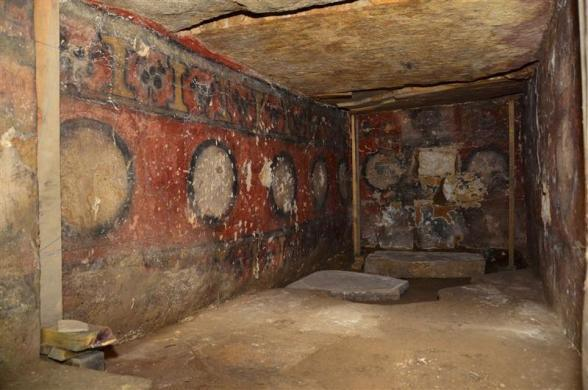 A view of a burial chamber at the archeological site of Atzompa, in the Mexican state of Oaxaca is seen in this undated handout photo released by the National Institute of Anthropology and History (INAH) July 18, 2012.