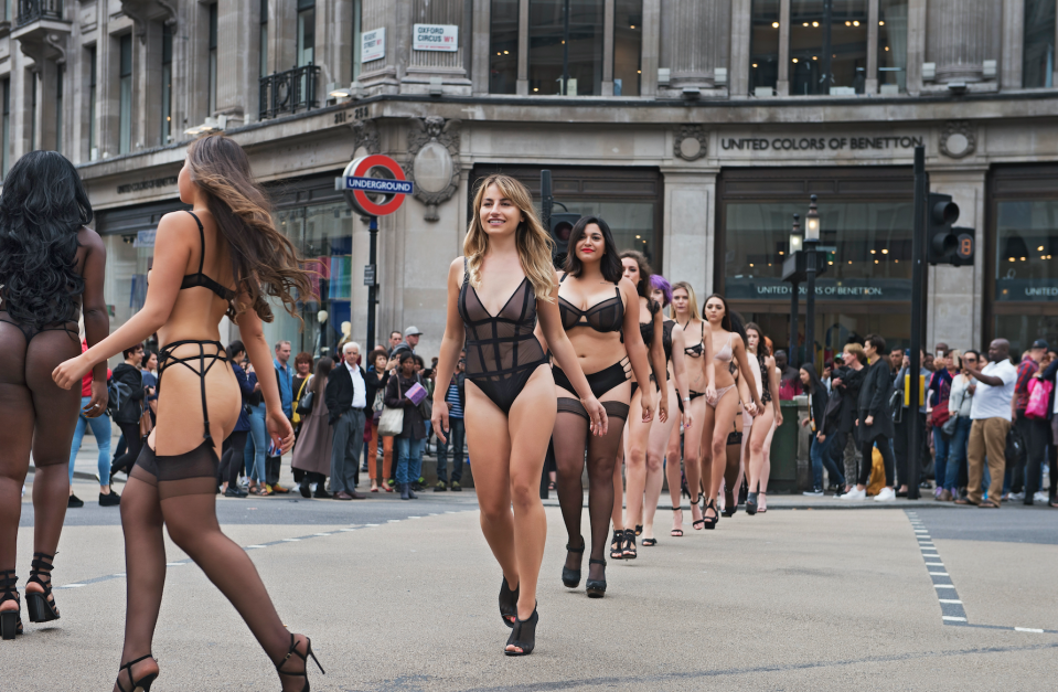 The catwalk was put on ahead of the launch of LFW [Photo: Bluebella]