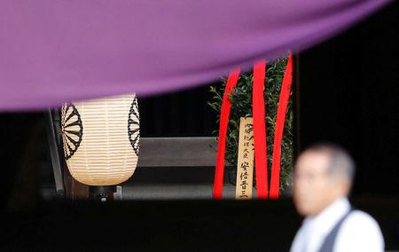 Abe sends offering to shrine honoring Japan's war dead