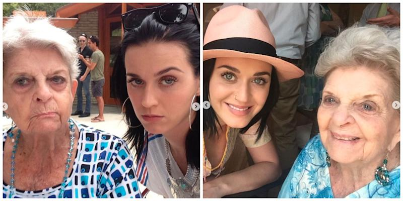 Katy Perry and her grandmother