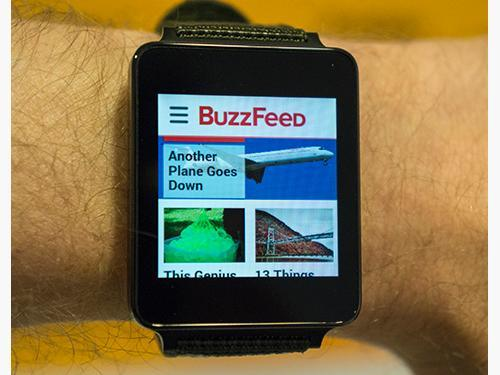 BuzzFeed on an Android watch