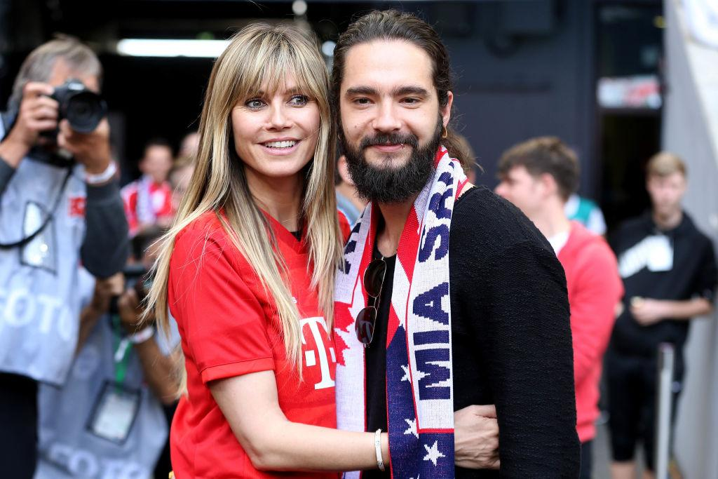 Heidi Klum and Tom Kaulitz catch a soccer game in Germany on May 18, 2019. (Photo: TF-Images/Getty Images)