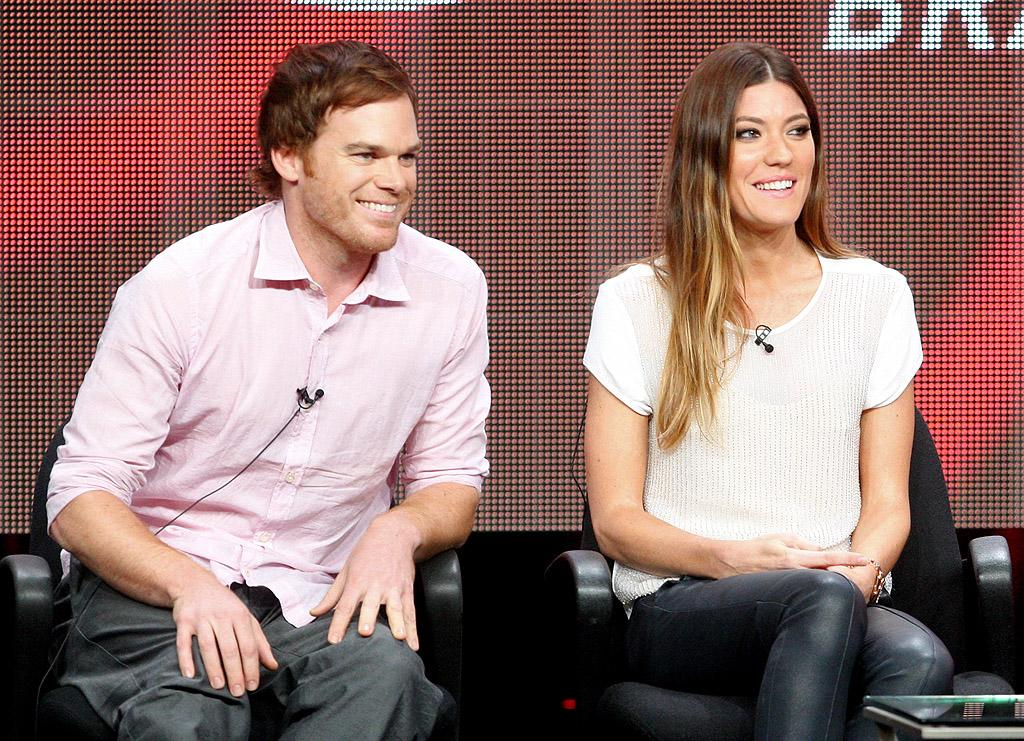 "<p class=""MsoNormal""><span>They may have split nearly two years ago, but ""Dexter"" co-stars and ex-spouses Michael C. Hall and Jennifer Carpenter were more than cordial on Monday when they participated in a Q&A about the series at the Television Critics Association summer press tour. ""</span><span>I've never had a bet</span><span>ter scene partner than Jennifer,"" Hall told the crowd. Carpenter was also happy to pay her ex a compliment: ""</span><span>He just sets such a strong example</span><span>."" If only all divorces could be this amicable! (7/30/2012) <br></span></p>"