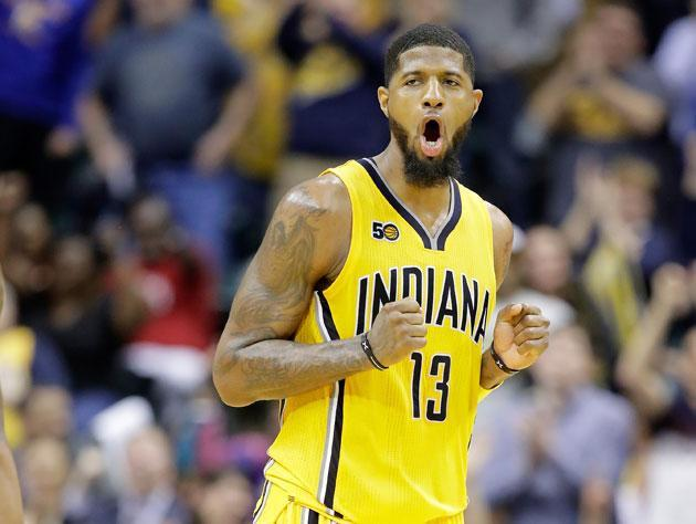 """<a class=""""link rapid-noclick-resp"""" href=""""/nba/players/4725/"""" data-ylk=""""slk:Paul George"""">Paul George</a> could become a free agent in 2018. (Getty Images)"""