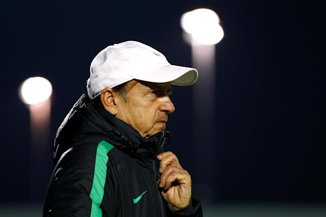 FILE PHOTO: Britain Football Soccer - Nigeria v Senegal - International Friendly - The Hive, Barnet, London, England - 23/3/17 Nigeria coach Gernot Rohr Action Images via Reuters / Peter Cziborra Livepic/File Photo
